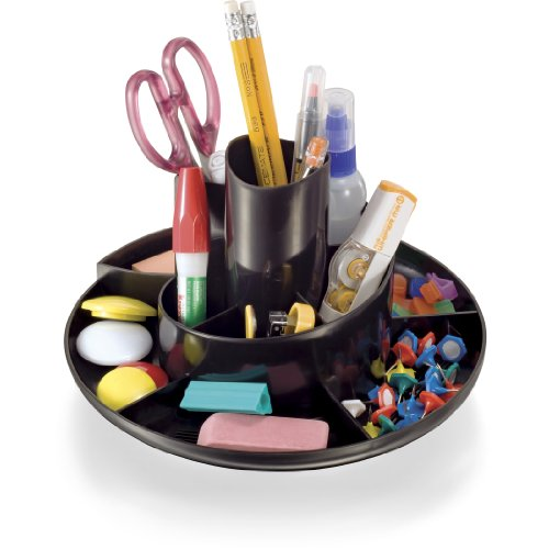 (Officemate Rotary Organizer, Recycled, Black (26250))