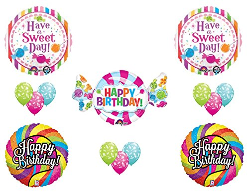 CANDY CRUSH 16th Sweet Shop Happy Birthday PARTY Balloons Decorations Supplies Candyland ()