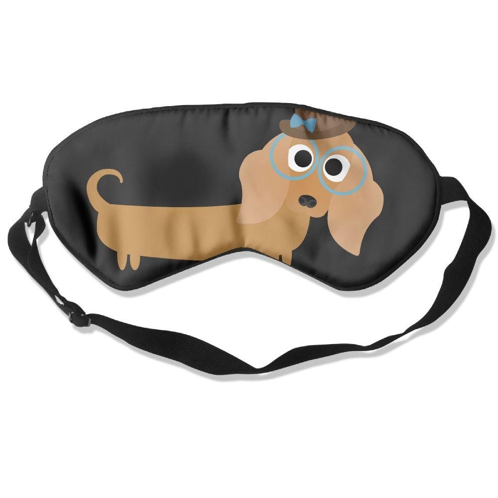 Sleep Mask Long Haired Dachshund Eye Cover Blackout Eye Masks,Soothing Puffy Eyes,Dark Circles,Stress,Breathable Blindfold For Women Men