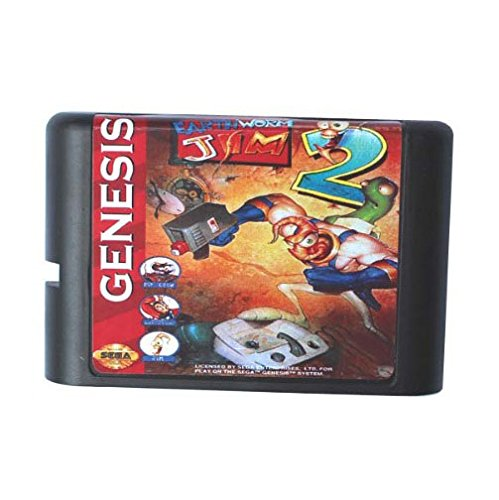 Taka Co 16 Bit Sega MD Game EarthWorm Jim 2 16 bit MD Game Card For Sega Mega Drive For Genesis