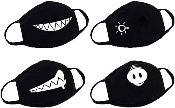 masque anti poussiere noir coton