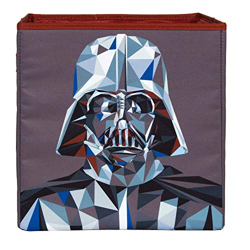 Star Wars Darth Vader Geometric Collapsible Storage Bin by Disney - Cube Organizer for Closet, Kids Bedroom Box, Playroom Chest - Foldable Home Decor Basket Container with Strong Handles and Design
