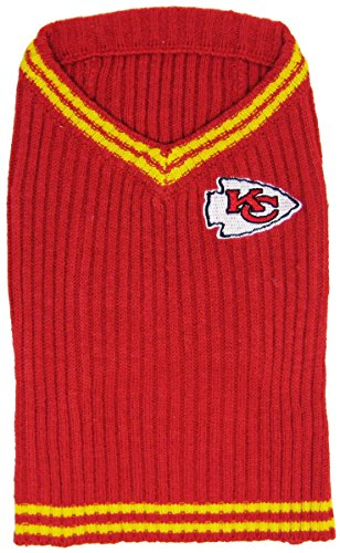 NFL Kansas City Chiefs Pet Sweater, Large