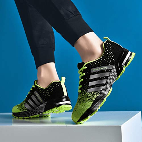 Mesh Running SEVENWELL Active Sneakers Sport Men's Shoes Fluorescence Basketball Breathable Women's Flyknit Max Green Air qFRwU0F