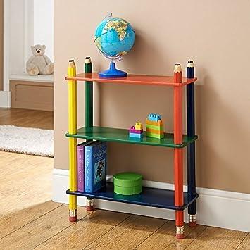3 Tier Shelve Shelf Kids Pencil Bookcase Furniture CD DVD Book Storage By AJ