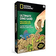 National Geographic Ultimate Dinosaur Play Sand - 2 LBS of Sand, 6 Molds, 6 Figures and Activity Tray
