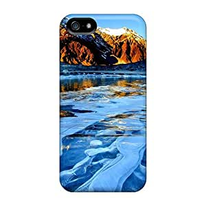 Special Design Back Ice Bubble Lake Phone Cases Covers For Samsung Galaxy S5 I9600/G9006/G9008