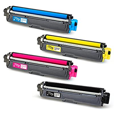 JARBO Compatible for Brother TN221 TN-221 TN225 TN-225 Toner Cartridge, 1 Set(1 Black, 1 Cyan, 1 Magenta, 1 Yellow), Use with Brother HL-3140CW HL-3170CDW HL-3180CDW MFC-9130CW MFC-9330CDW MFC-9340CDW