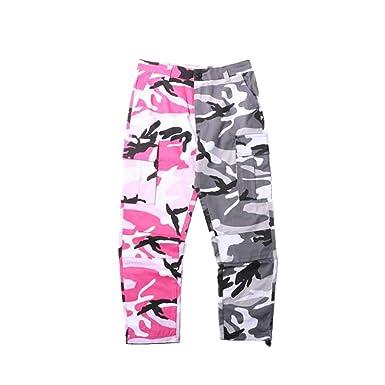 Yying Hommes Femmes Jogger Camouflage Camo Pantalons Pantalon Cargo  Militaire Style Baggy Pantalon Hip Hop Streetwear Deux-Tone Army Toursers   Amazon.fr  ... 0db355cd8ac
