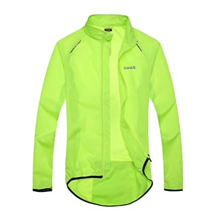 01194fdc8 Amazon.com   Santic Men s Cycling Skin Coat Jersey Bicycle Windproof ...
