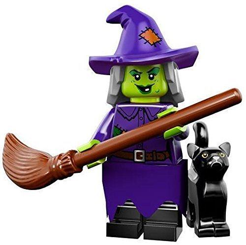 Lego series 14 wacky witch mini-figure #04 of 16 with checklist & unused code