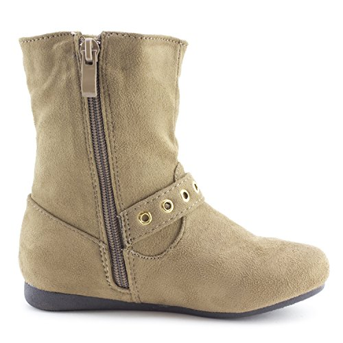 Zipper Suede Faux Slouch Girls Side Boots Big Toddler Link Kid Little Taupe Kid qBIEwFH