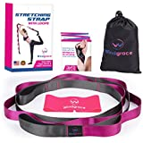 Windgrace New Stretching Strap with Loops | Premium Quality Stretching Straps with 12 Loops - eBook, Resistance Loop Band and Carry Bag - Physical Therapy, Yoga, Pilates, Stretch Yoga Strap