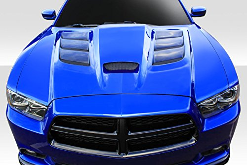 2011-2014 Dodge Charger Duraflex Viper Look Hood - 1 Piece