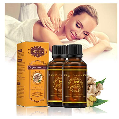 (❤️ Sunbona Clearance ALIVER Natural Pure Essential Oils Plant Therapy Lymphatic Beauty Drainage Ginger Oil Anti Wrinkle (B))