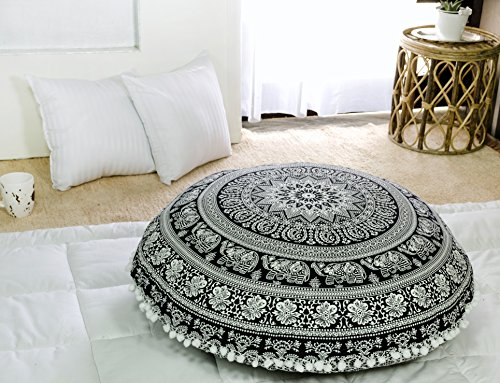 Popular Handicrafts Kp836 Large Hippie Elephant Mandala Floo