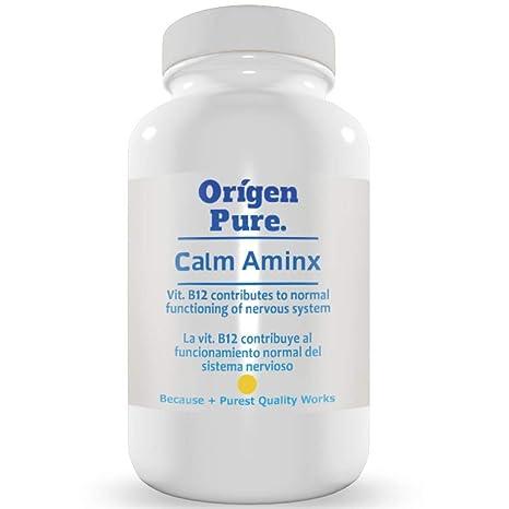 Triptofano con Magnesio Vitamina B6 Gaba y Lúpulo pura Tranquilidad y Paz Natural Fórmula Profesional Calm