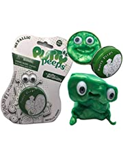 Putty Peeps / Fun Weekend or Easter Toy / Metallic Green Sensory Toy for Kids/ Tested Fidget Toy for Stress & Anxiety Relief / Squishy Stretchy Fun / Never Dries Out for Boys and Girls
