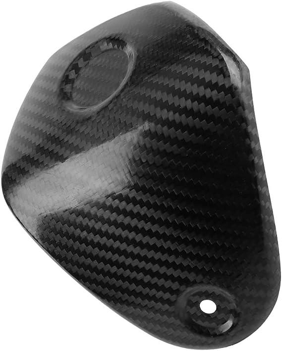 Akozon Coprisedile Morsetto Manubrio Moto Accessori Scooter Fibra di Carbonio Nero per XMAX 300 XMAX300