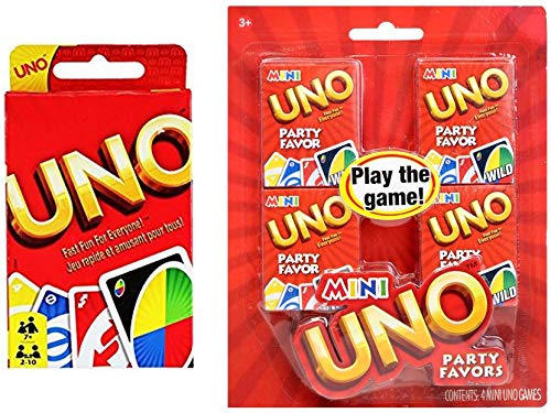 Classic Uno Plus 4-Pack of Mini Uno]()