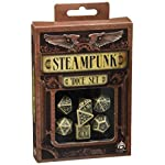 Steampunk Dice Beige/Black (7 Stk.) Board Game 6