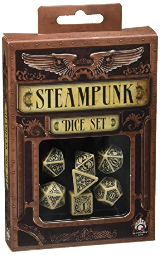 Steampunk Dice Beige/Black (7 Stk.) Board Game 3