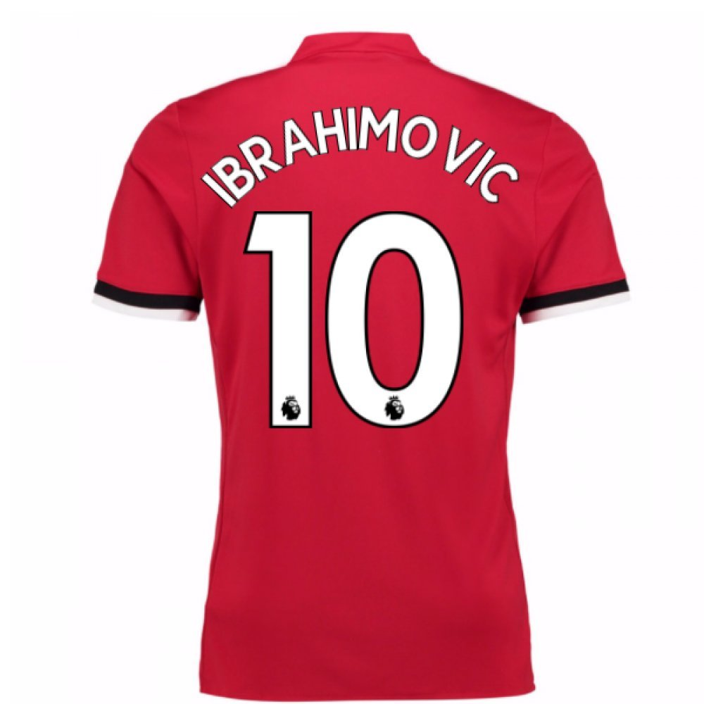 20Zlatan Ibrahimovic 107-20Zlatan Ibrahimovic 108 Man United Home Football Soccer T-Shirt Trikot (Zlatan Ibrahimovic 10) - Kids
