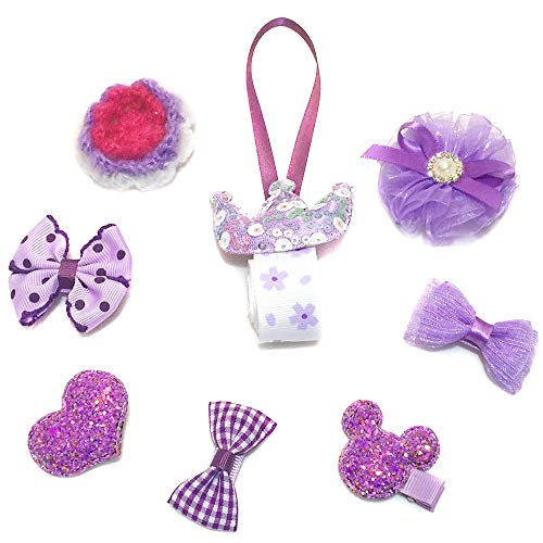 Baby Barrettes for Fine Hair no Slip Bows Alligator Clips for Hair Infant Toddlers (Purple)