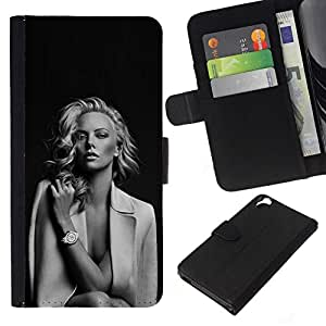 All Phone Most Case / Oferta Especial Cáscara Funda de cuero Monedero Cubierta de proteccion Caso / Wallet Case for HTC Desire 820 // Hollywood Movies Black White