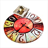 Carpets Rugs Carpet Rug Round Carpet in Living Room Bedroom Coffee Table Bedside Chair Area Rug Mat Creative Retro Warm Style Wall Clock Pattern