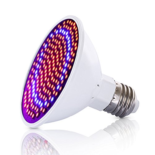 LED Grow Lights Bulb, Pathonor 20W E27/E26 LED Grow Light Plant Lamp Bulb Garden Greenhouse Plant Seedling Light 166 Red 34 Blue Grow Tent Bulb for Garden Greenhouse and Hydroponic Aquatic