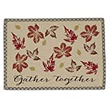 DII Cotton Placemat, Set of 6, Rustic Leaves - Perfect for Fall, Thanksgiving, Friendsgiving and Dinner Parties
