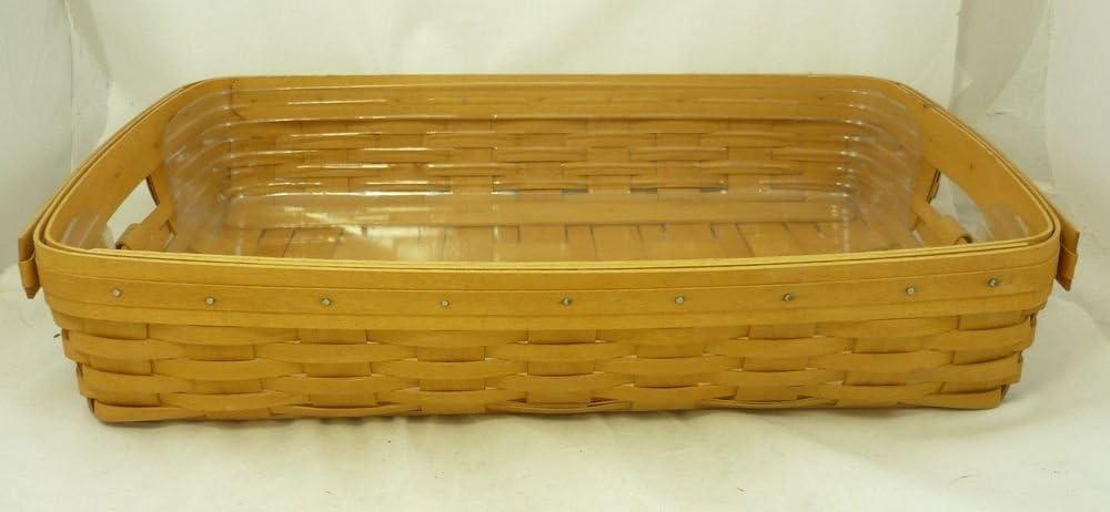 Longaberger Oval Serving Tray Basket Liner Black
