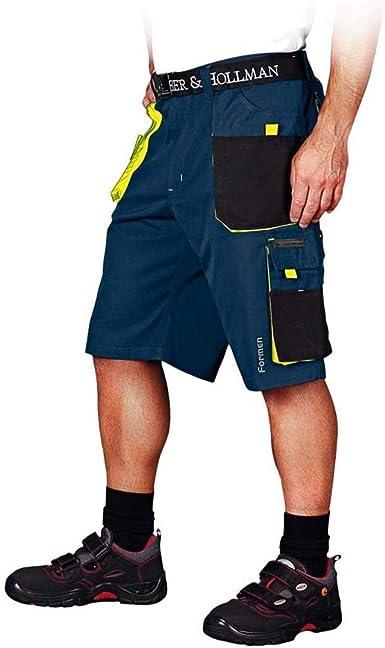 jaune h/épatique /& Hollman LH-FMN-TS/_GBYXL Pantalon de protection court XL bleu fonc/é noir