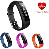 Hangang ZY68 Fitness Tracker,Bluetooth Heart Rate Monitor Smartwatch Step Walking Sleep Counter Wate