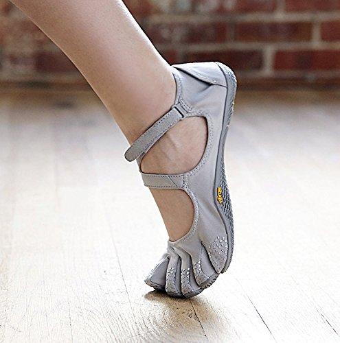 fitness nbsp;Chaussures Soul V à pour chaussettes de avec loisirs orteils incluses Silver pieds Chaussures Lightgrey Chaussettes FiveFingers orteils le nus nbsp; nbsp;Kit Vibram pour femme à qvETw5