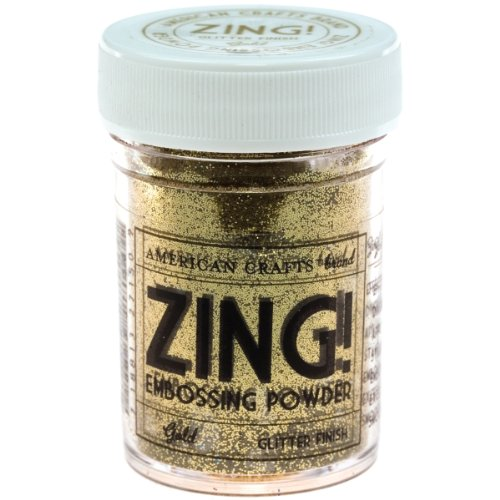 Zing! Glitter Embossing Powder 1-Ounce, Gold