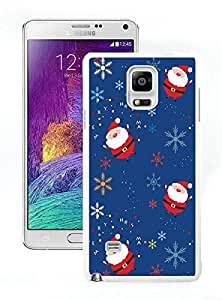 Custom-ized Santa claus pattern White Samsung Galaxy Note 4 Case 1