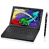 VSTN ® Lenovo IdeaPad Tab 2 A10-70 Bluetooth Keyboard case - High quality Ultra-thin Portfolio Case - Detachable Bluetooth Keyboard Stand Case / Cover+ Free stylus with free for Lenovo IdeaPad Tab 2 A10-70 tablet. (Black)