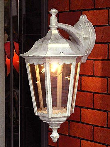コンコルディア照明 外灯 ホワイトゴールド色のおしゃれなデザインの壁付けタイプの屋外照明 EW022/WD B0773C2QLT