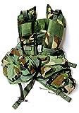 US Military Enhanced Load Bearing Tactical Vest, Woodland Camo