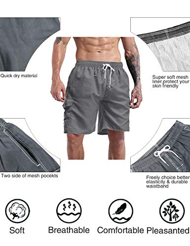 MILANKERR Men's Swim Trunk Swimming Shorts with Pockets