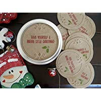Have Yourself a Merry Christmas, Canning Jar Lid Covers, Stickers, Mason Jar Labels, Gift Wrapping, Set of 8