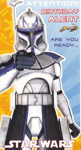 Star Wars Clone Wars SW353 - Tarjeta de felicitación de cumpleaños, diseño de Star Wars Clone Wars: Amazon.es: Oficina y papelería