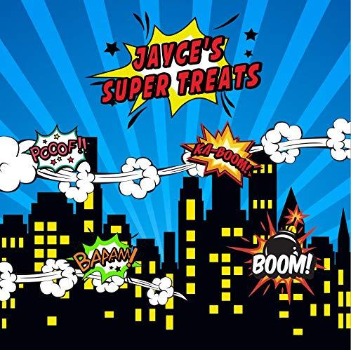 Mocsicka スーパーヒーロー バースデー背景幕 8x8フィート カスタム背景幕   B07KVTJZ49