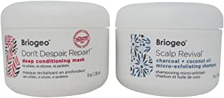 product image for Bundle - 2 Items : Briogeo Scalp Revival Charcoal + Coconut Oil Micro-exfoliating Shampoo, 8 Oz & Briogeo Don't Despair, Repair Deep Conditioning Mask, 8 Oz