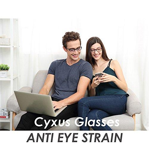 Cyxus Blue Light Blocking [Lightweight TR90] Glasses for Anti Eye Strain Headache Computer Use Eyewear, Men/Women (TR90 black) by Cyxus (Image #2)