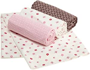 "Carter's Butterfly Flowers 4 Piece Receiving Blanket, Pink/Choc, 30 X 40"" (Discontinued by Manufacturer)"