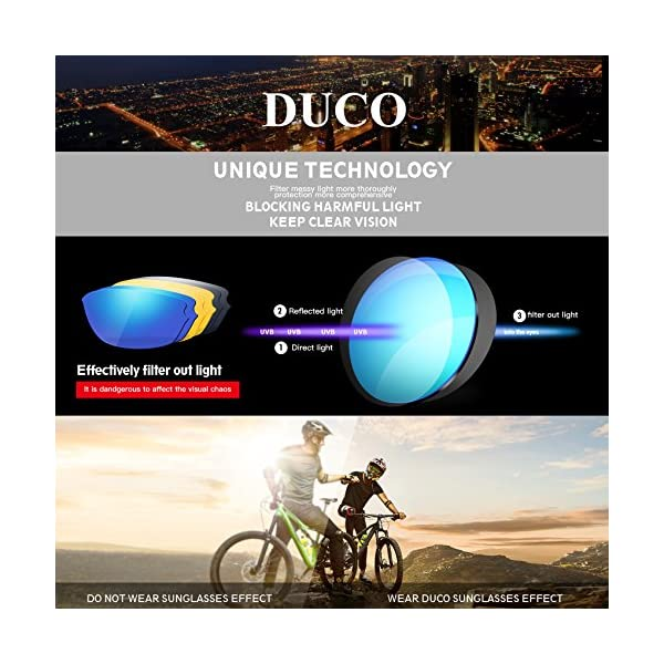 b5599f9869 DUCO Polarized Sports Mens Sunglasses for Ski Driving Golf Running Cycling  TR90 Super Light Frame with 3 Sets of Interchangeable Lenses 6216 –  Trustedtackle
