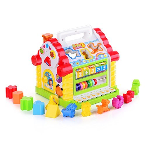 Birthday gifts for 1 year old girls. Christmas gifts for 1 year old girls. Colorful Musical Activity House
